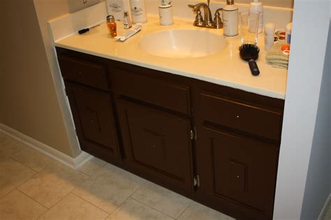 Sparks Fly Painting Bathroom Cabinets (what Not To Do