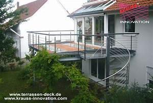 balkon terrassen deck mit wendeltreppe direkt vom With französischer balkon mit wendeltreppe garten