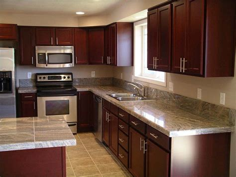 painting kitchen island cherry wood kitchen cabinets with black granite knotty