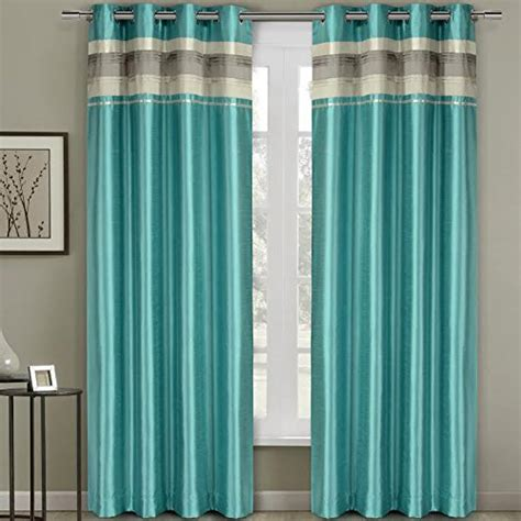 pair of two top grommet blackout thermal insulated curtain