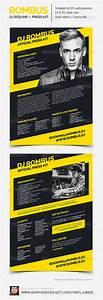rombus dj resume press kit psd template by vinyljunkie With dj press kit template free