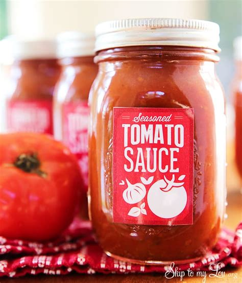 canning labels  homemade tomato sauce skip   lou
