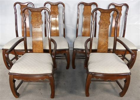 set of six style highback dining chairs sold