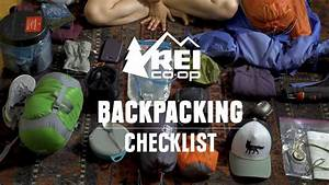 Camping Checklist Backpacking Checklist Rei Youtube