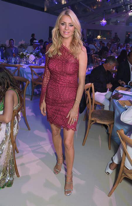 Tess Daly wows in berry mini-dress at Elton John's ...