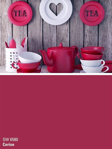 sherwin williams red paint color cerise sw 6580