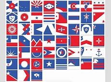 ed mitchell gives 50 US state flags a unified redesign