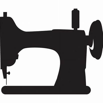 Sewing Machine Clip Silhouette Clipart Transparent Machines