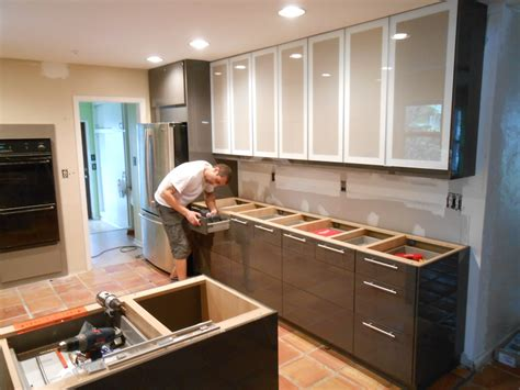 how does it take to install kitchen cabinets installation service park kitchens 9869