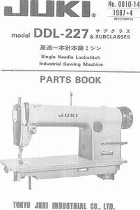 Ace U0026eastman Ddl 227 Parts List User Manual