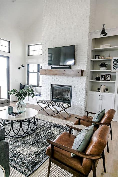 comfy modern farmhouse style living room decor ideas
