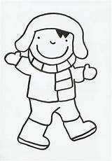 Winter Anna Sjaal Muts Handschoenen Thema Trui Kleurplaten Inkleuren Laarzen Broek Prentenboek Kathleen Wit Blijven Gezicht sketch template