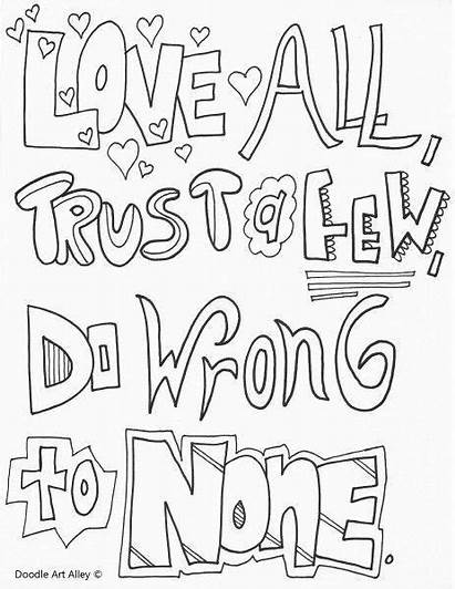 Coloring Pages Quotes Sheets 5th Grade Quote