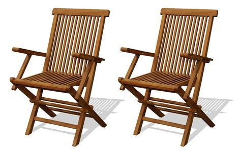 lot chaise de jardin chaise de jardin en teck brut avec accoudoirs lot de 2
