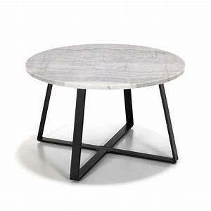 Table Basse Marbre But : table basse en m tal avec plateau en marbre blanc et noir bely les tables basses tables ~ Teatrodelosmanantiales.com Idées de Décoration