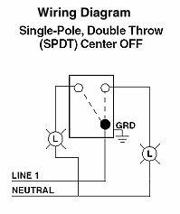 electrical turn one light bulb on and another off at the With wiring diagram together with single pole double throw switch diagram