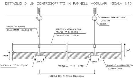 Controsoffitti Dwg by Controsoffitti Dwg Ceiling Dwg Dettagli Cad Diagram