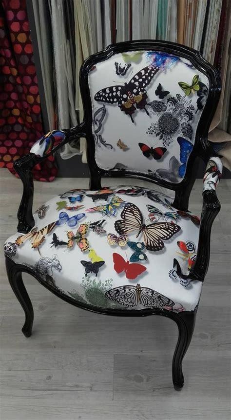 refection siege cuir réfection de siège avec tissu papillons réalisations