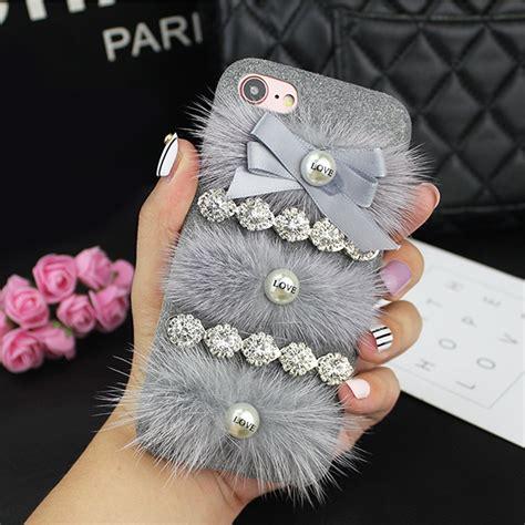 wholesale iphone 7 plus fur fuzzy plush gray