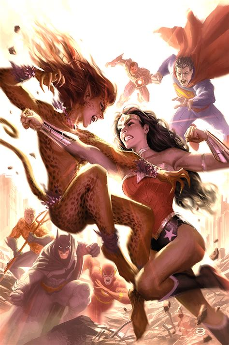 Cheetah Battles Wonder Woman Superhero Catfights Female Wrestling And Combat Superheroes