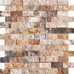 scabos travertine natural stone split face 1 quot x2 quot
