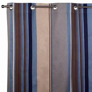 Rideau Bleu Gris : madura acapulco bleu et gris rideau oeillets acapulco bleu et gris multicolore brandalley ~ Teatrodelosmanantiales.com Idées de Décoration