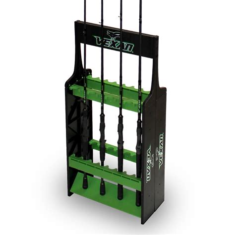 fishing pole storage rack fishing rod rack vexan 16 tackle industries