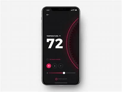 Smart App Thermostat Ios Dribbble Shakuro Ui