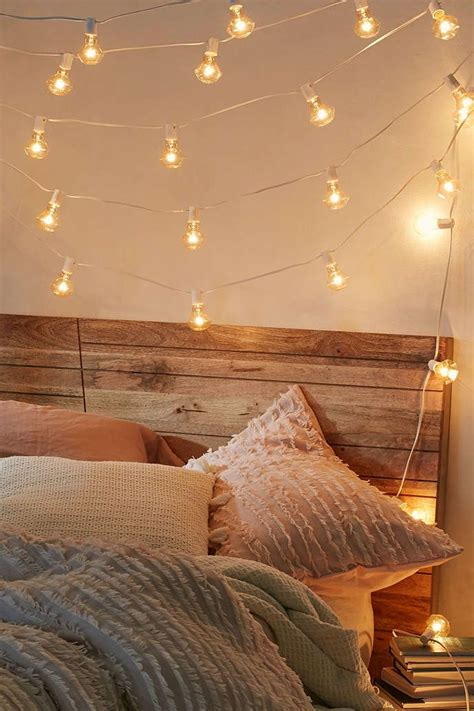Led Lights To Hang In Your Room by Faceted Bulb String Lights Apartment Bedroom Lighting