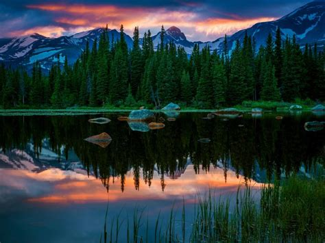 Usa, Colorado, Red Rock Lakes, Lake, Mountain, Forest
