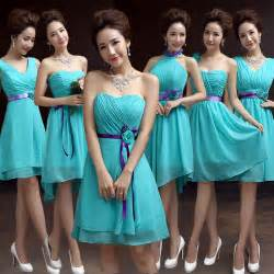 turquoise and purple bridesmaid dresses aliexpress buy teal bridesmaid dresses chiffon turquoise blue dress for weddings