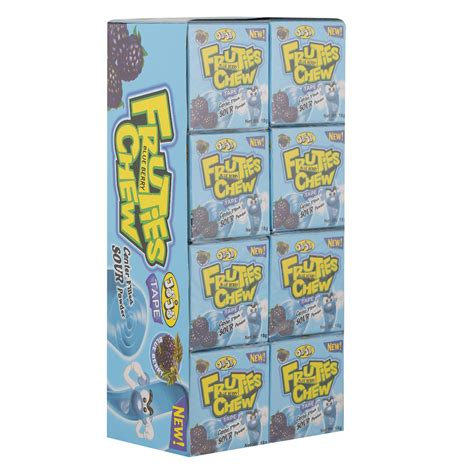 I chewed 14 pieces of gum today.i'll let you know tomorrow if it actually affected i seem to find the sweet in everything from my morning coffee, to my night time that's why i said that chewing gum should be timed correctly. Jojo Fruties Blueberry Flavour Chewing Gum 18 gr Pack of 24   Wholesale   Tradeling
