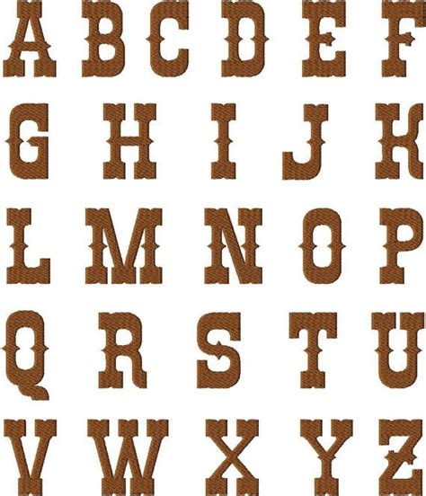 instant  rio western style font machine embroidery font set includes  sizes  etsy