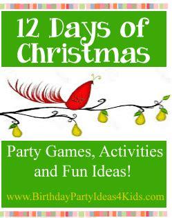 twelve days of christmas party ideas