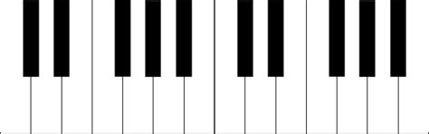 Octave Blank Piano Keyboard Diagram Clip Art Clker