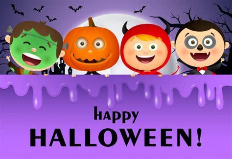 happy halloween lettering moon  kids