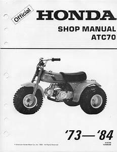 Honda Atc 70 Service Manual 1973 - 1984