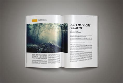 Magazine Format Template by Inkdesign Magazine Template Pixelo