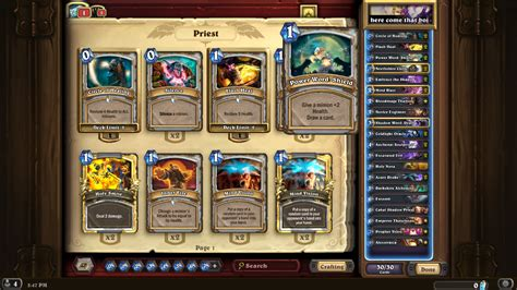 Priest Deck Hearthpwn Basic by Need Help With My Otk Priest General Deck Building