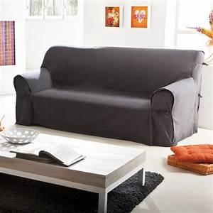 Housse canape 3 places avec accoudoir bois canape for Canapé 3 places pour maison de décoration