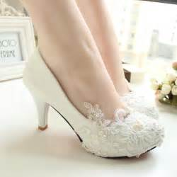 wedding dress shoes handmade lace wedding shoes white bridal shoes bridesmaid shoes banquet dress shoes pumps