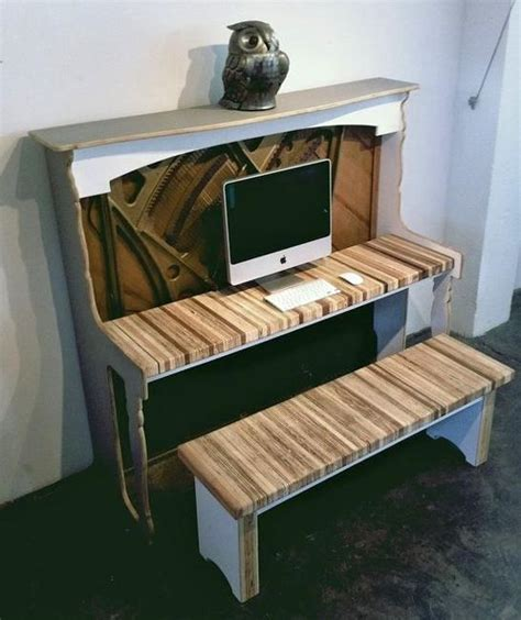 recycling piano  computer desk creative vintage