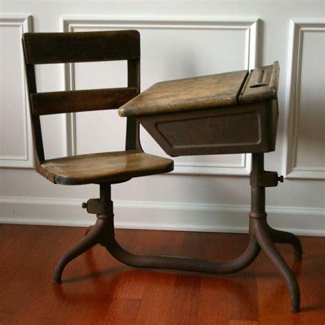 vintage school desk wooden antique childrens 1930s