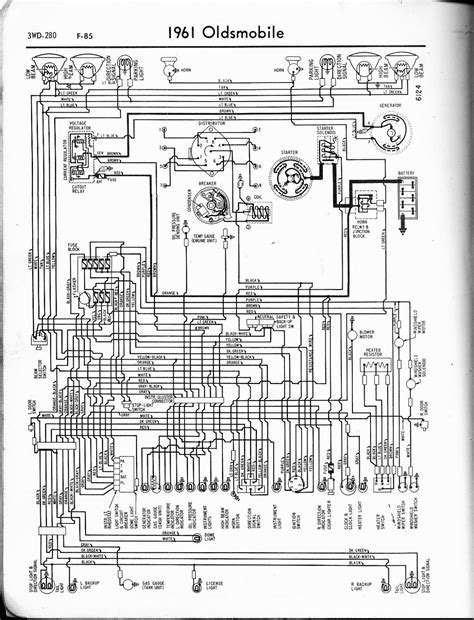 free auto wiring diagram 1961 oldsmobile f 85 wiring diagram