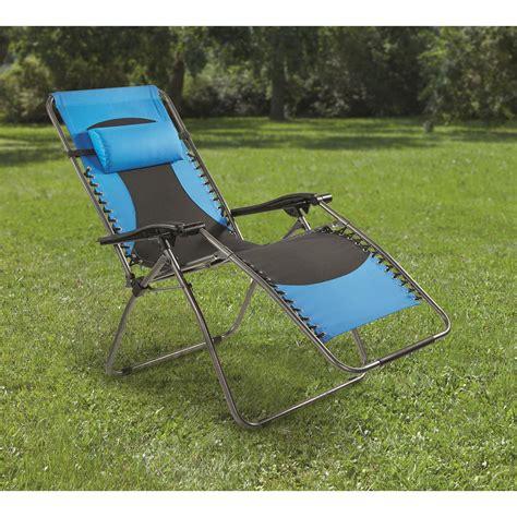 guide gear oversized 500 lb zero gravity chair blue