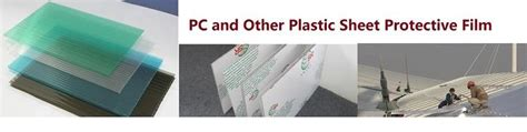 custom co extruded self adhesive film for plastic sheet