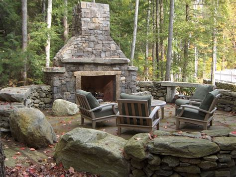 amazing outdoor fireplace designs vonderhaar