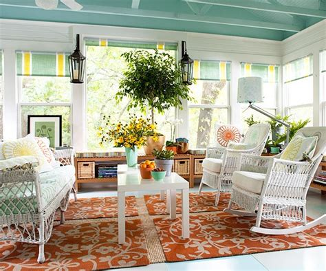 spring porch decorating ideas lamps