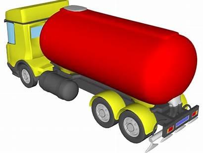 Cad Cartoon Clipart Trucks Tanker Truck 3d