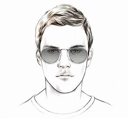 Face Shape Oval Sunglasses Male Shaped Shapes